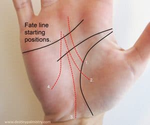 fate lines in palmistry, palm reader in brisbane, fate line starting, missing lines