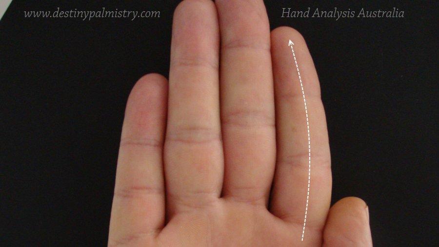curved index finger, bent jupiter, bent finger meaning
