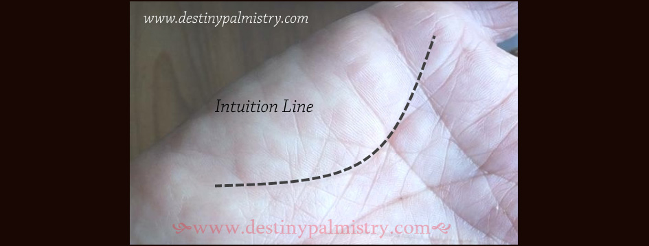 intuition line, where is the intuition line on the palm, psychic line