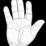 thick hand, earth hand, hand shape