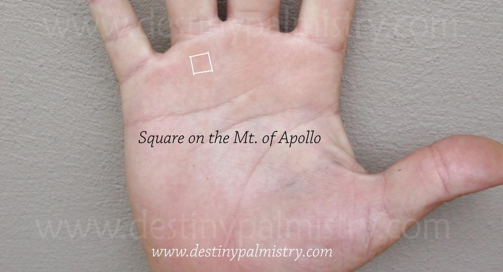 square on the Apollo mount
