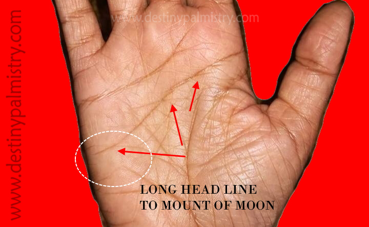 long head line to the mount of moon