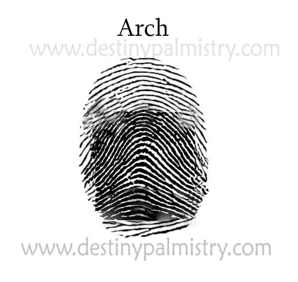Arch fingerprint palmistry