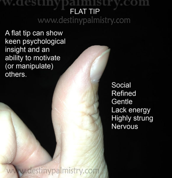 flat tip of thumb meaning